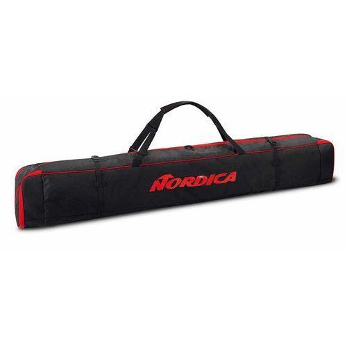 Nordica Pokrowce na narty zjazdowe single ski bag czarny 175-210 czerwony