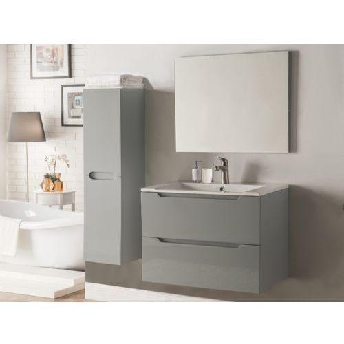 Komplet stefanie - meble łazienkowe - lakier szary marki Vente-unique