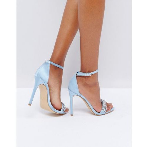 New look  embellished barely there heeled sandal - blue