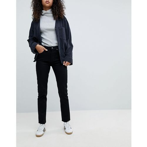Weekday Seattle high waist mom jeans with organic cotton in black - Black, bawełna