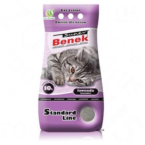 CERTECH Super Benek Standard Lawenda - żwirek dla kota zbrylający 10l