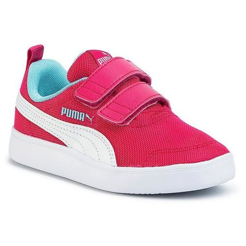 Sneakersy PUMA - Courtflex V2 Mesh V PS 371758 02 Bright Rose/Gulf Stream, kolor różowy