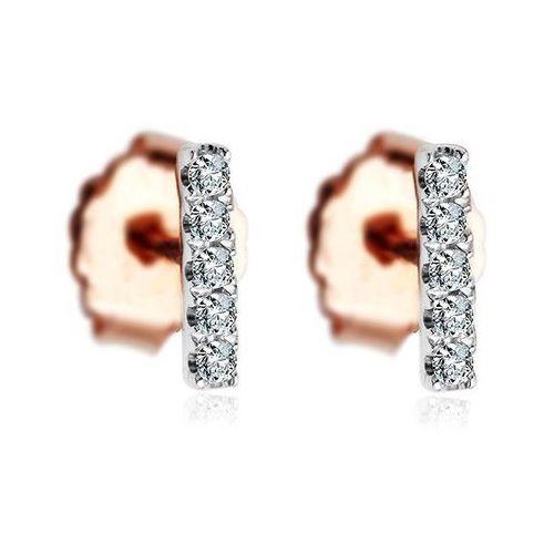 Złote kolczyki krd2005 - diament marki Staviori