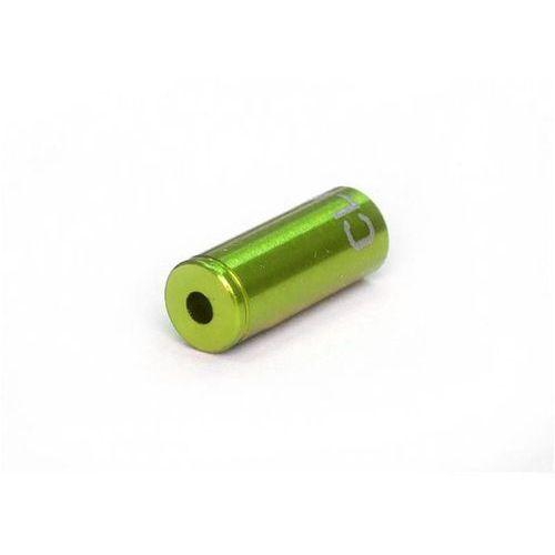Clarks Końcówka pancerza hamulca clark's 5mm cnc aluminium 100szt zielone (5021646022770)