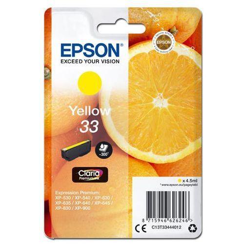 Epson Oryginalny atrament  t33 [c13t33444012] yellow