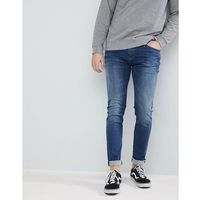 simon skinny fit jeans in dynamic stretch mid wash - blue marki Tommy jeans