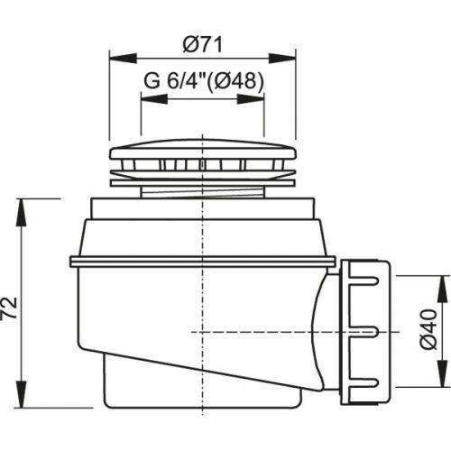 Syfon brodzikowy fi 60 a47cr (1) marki Alcaplast