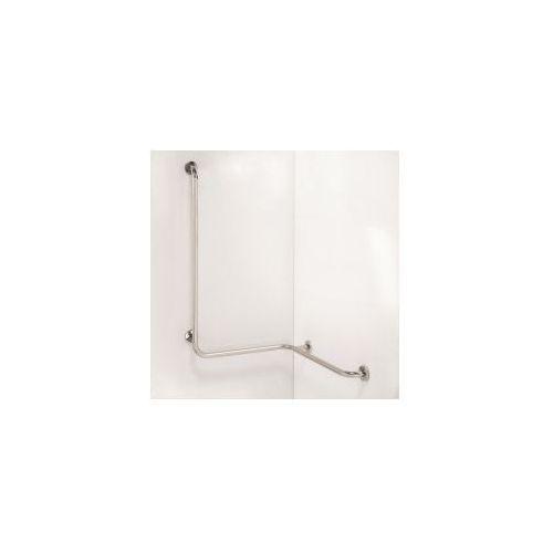 HELP Poręcz pod prysznic z pionową podporą, lewy stal nierdzewna 301112021, 301112021