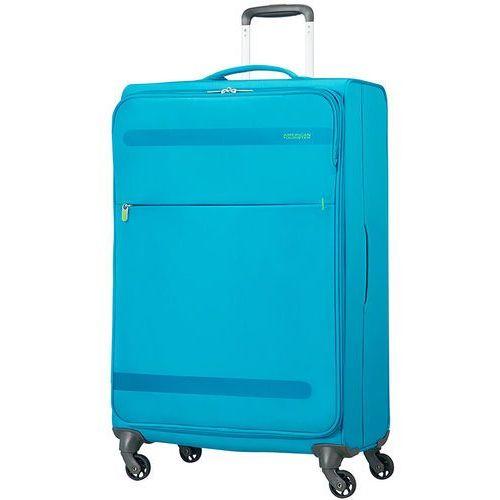 American tourister herolite duża walizka 74 cm / niebieska - mighty blue (5414847858277)