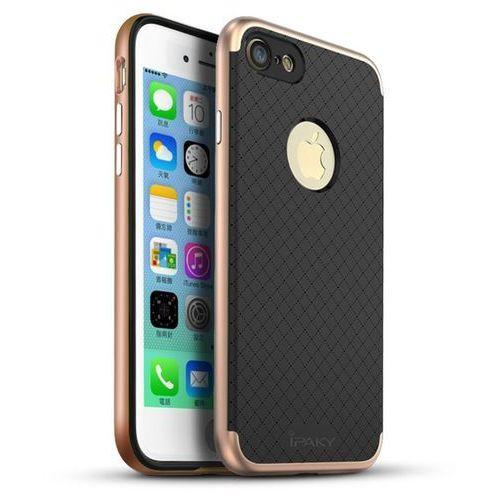 premium hybrid różowy | obudowa ochronna dla modelu apple iphone 7 plus - różowy marki Ipaky