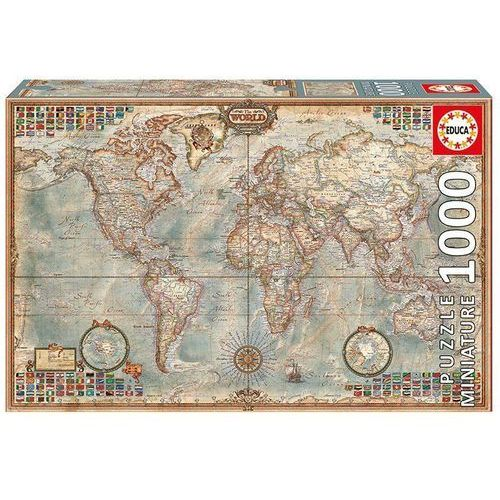 Puzzle 1000 elementów, polityczna mapa świata - darmowa dostawa od 199 zł!!! marki Educa