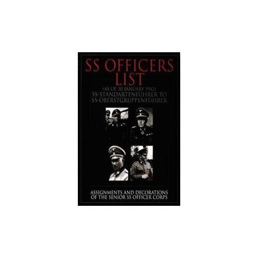SS Officers List (as of 30 January 1942) SS Standartenfuhrer