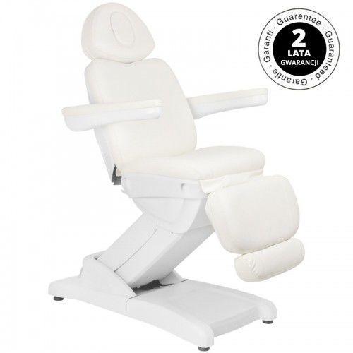 Fotel kosmetyczny elektr. azzurro 871a 2 siln. biały marki Activeshop