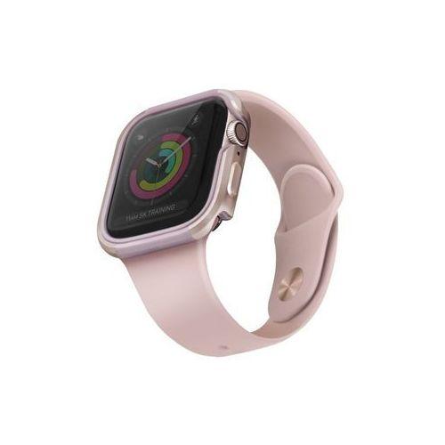 Uniq etui valencia apple watch series 5/ 4 44mm różowo-złoty/blush gold pink - różowy