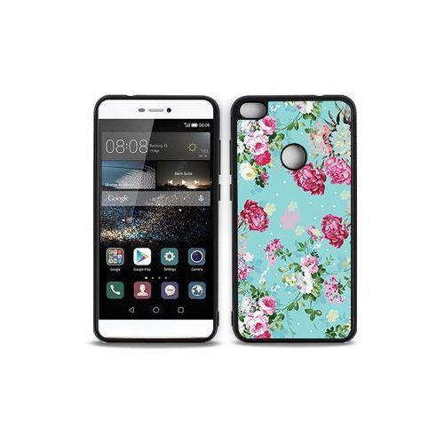 Huawei P9 Lite (2017) - etui na telefon Aluminum Fantastic - różyczki na miętowym tle, ETHW503HBFNFC007000