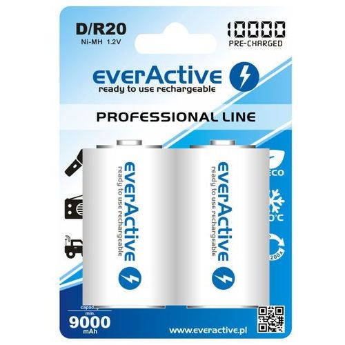 Everactive Akumulatorki  d r20 10000 mah professional line (2szt.) (5902020523406)