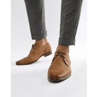 River Island faux leather lace up shoes in tan - Tan
