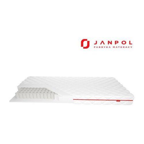 Janpol klio - materac kieszeniowy, sprężynowy, rozmiar - 140x200, pokrowiec - smart wyprzedaż, wysyłka gratis (5906267480379)
