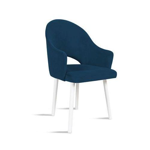B&d Krzesło bari granatowy/ noga biała/ so263