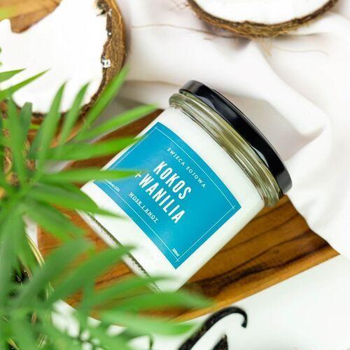 Cup&you cup and you Świeca sojowa wanilia + kokos - aromatyczna ręcznie robiona naturalna świeca zapachowa w słoiczku 300ml