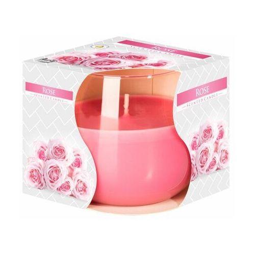 Bispol, świeca zapachowa w szkle, róża, 1 sztuka