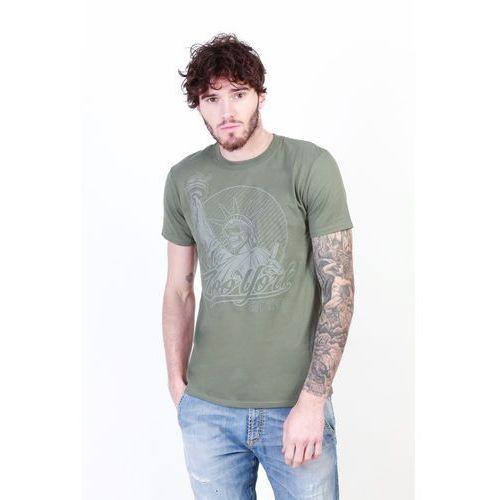 T-shirt koszulka męska ZOO YORK - ZZMTS132-21, ZZMTS132_MILITARY-GREEN-L