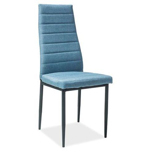 Krzesło h265 denim stelaż czarny marki Signal meble