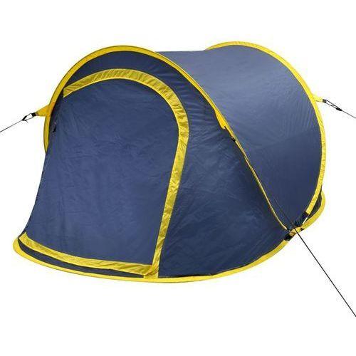 Vidaxl samorozkładający się namiot 2 osobowy niebiesko żółty