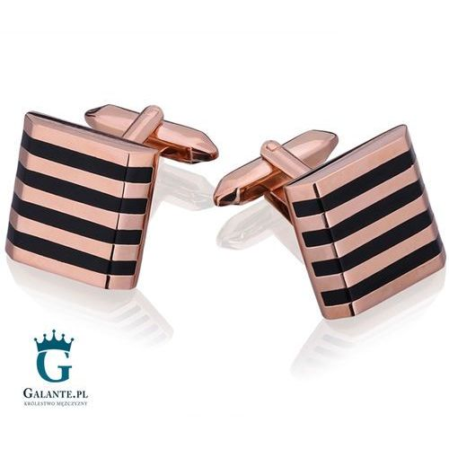 Spinki do mankietów Rose Gold/Zebra UE-22620