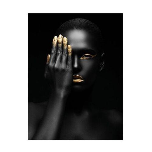Art canvas Plakat złota dłoń 30 x 40 cm