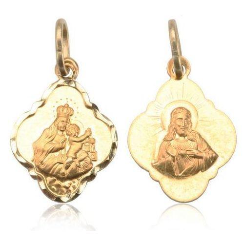 medalik złoty dwustronny SZKAPLERZ