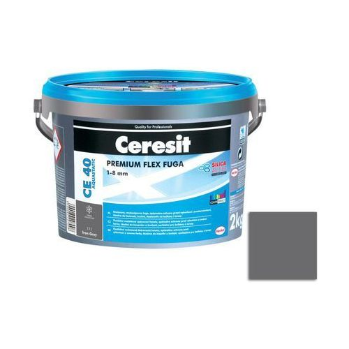 Fuga cementowa WODOODPORNA CE40 ciemno szary 2 kg CERESIT