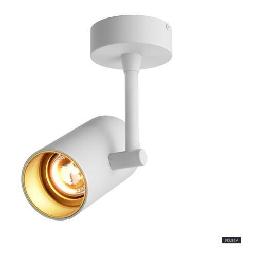 SELSEY Kinkiet Jared biały ze złotym wnętrzem (5903025225999)
