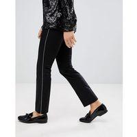super skinny trousers in cotton sateen with side stripe - black marki Noose & monkey