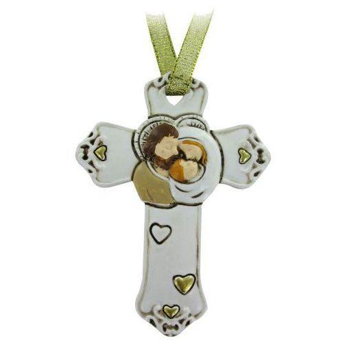 Krzyżyk ze świętą rodziną dla dziecka na chrzest marki Produkt włoski