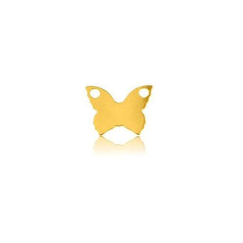 Blaszka motyl do łańcuszka, złoto próba 585 marki 925.pl