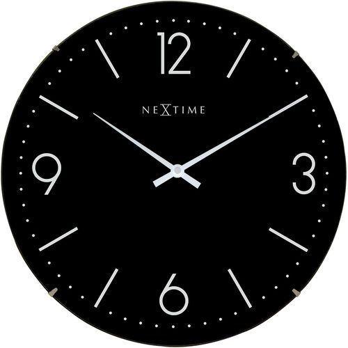 Zegar ścienny Basic Dome Nextime 35 cm, czarny (3157 ZW) (8717713016601)