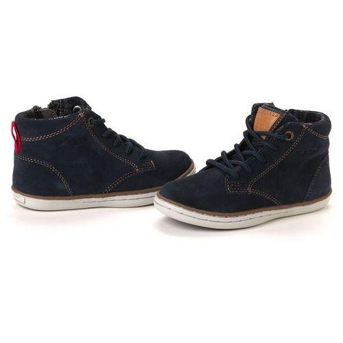 buty za kostkę chłopięce 34 ciemnoniebieski wyprodukowany przez Geox