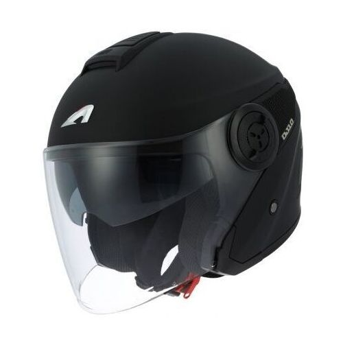 Astone dj10-2 mono color matt black kask otwarty