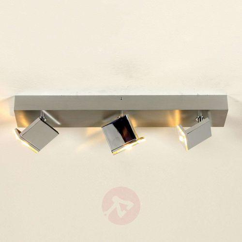 Trzypunktowa lampa sufitowa LED Elle, ściemniana