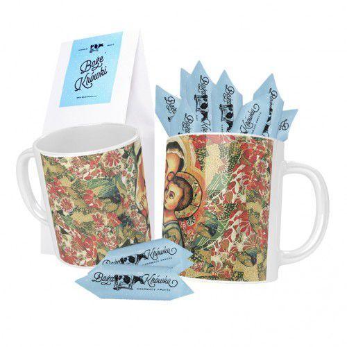 Słodki zestaw kubek ceramiczny, matka boża + boże krówki 150 g marki Produkt polski