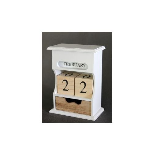 Pozostali Kalendarz drewniany z szufladką - 16x9x21,5 cm