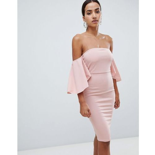 AX Paris off the shoulder midi dress - Pink