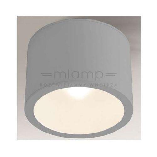 Plafon LAMPA sufitowa MACHIDA 8016/GX53/SZ Shilo minimalistyczna OPRAWA okrągła IP44 szara