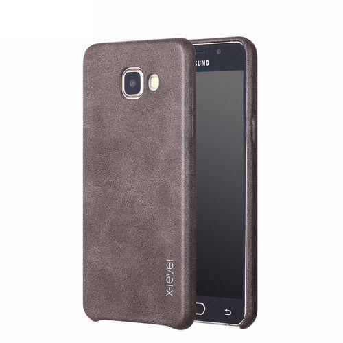 Etui X-Level Vintage Samsung Galaxy A5 2017 Brown + Szkło, kolor brązowy