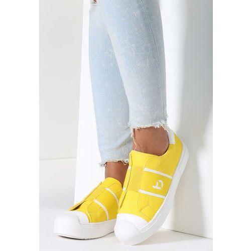 Żółte buty sportowe liberty marki Other