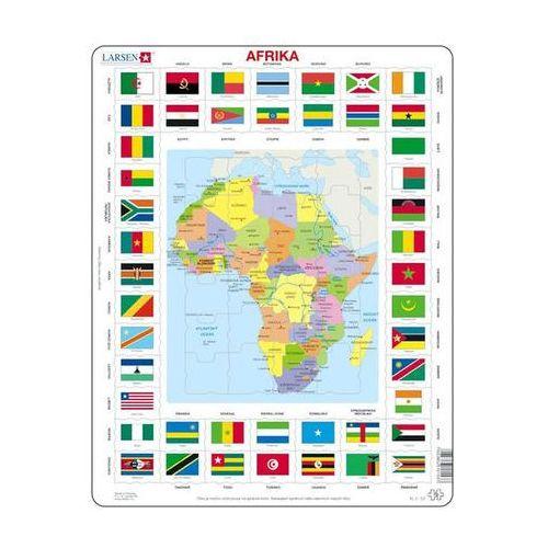 Neuveden Puzzle maxi - mapa afriky + vlajky/70 dílků