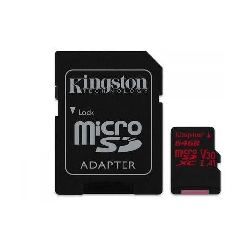 karta pamięci 64gb canvas react microsdxc uhs-i v30 + adapter sd (sdcr/64gb) marki Kingston