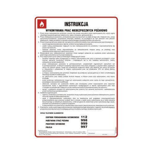 Instrukcja wykonywania prac niebezpiecznych pożarowo