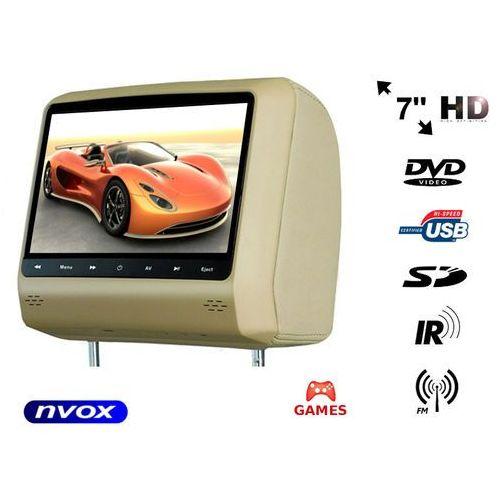 """Nvox hvr7023d be zagłówek multimedialny z ekranem 7"""" w rozdzielczości hd z dvd grami usb sd (5909182422264)"""